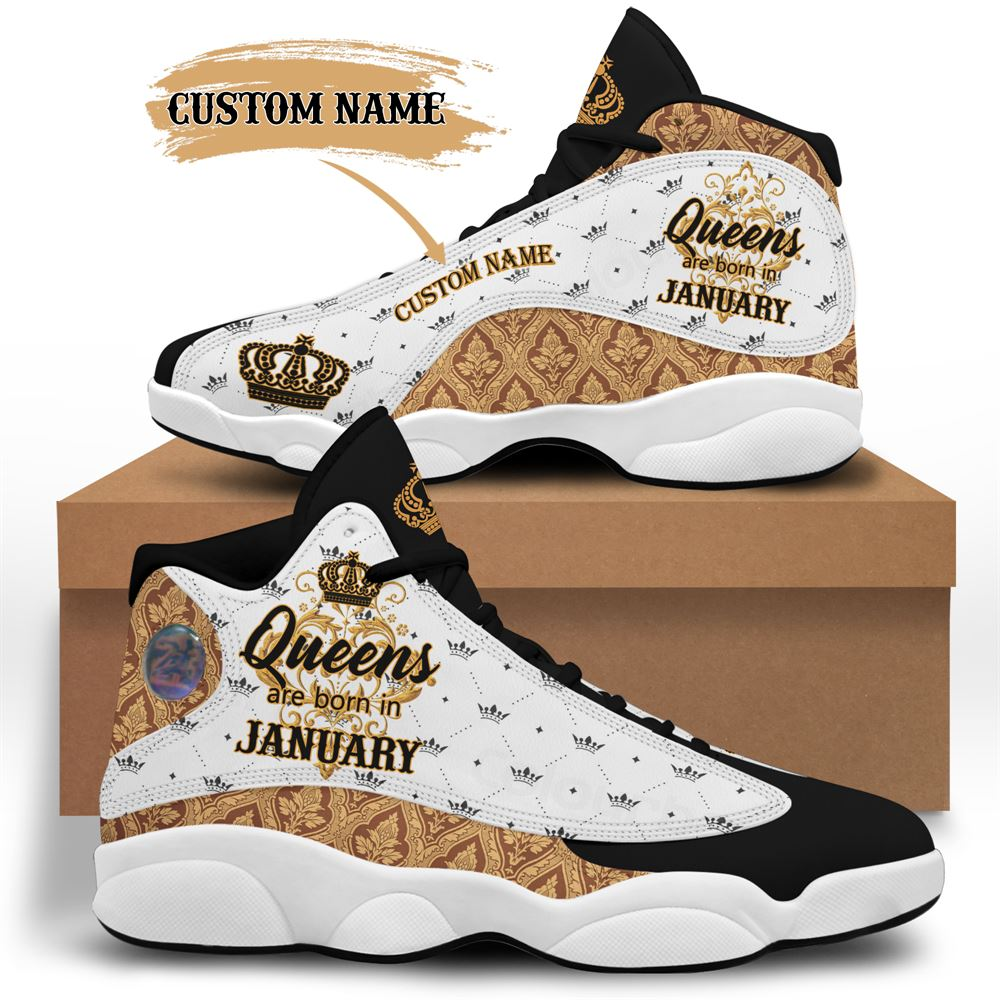 January Birthday Air Jordan 13 January Shoes Personalized Sneakers Sport V036