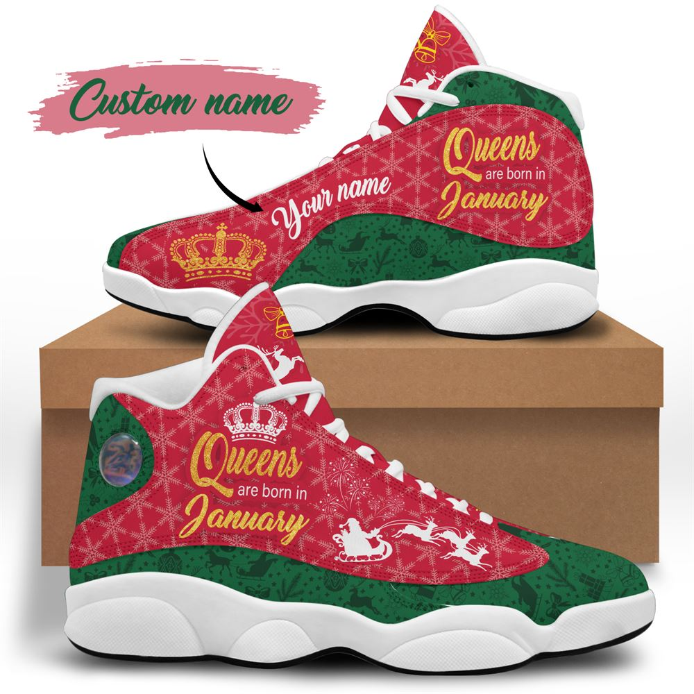 January Birthday Air Jordan 13 January Shoes Personalized Sneakers Sport V037