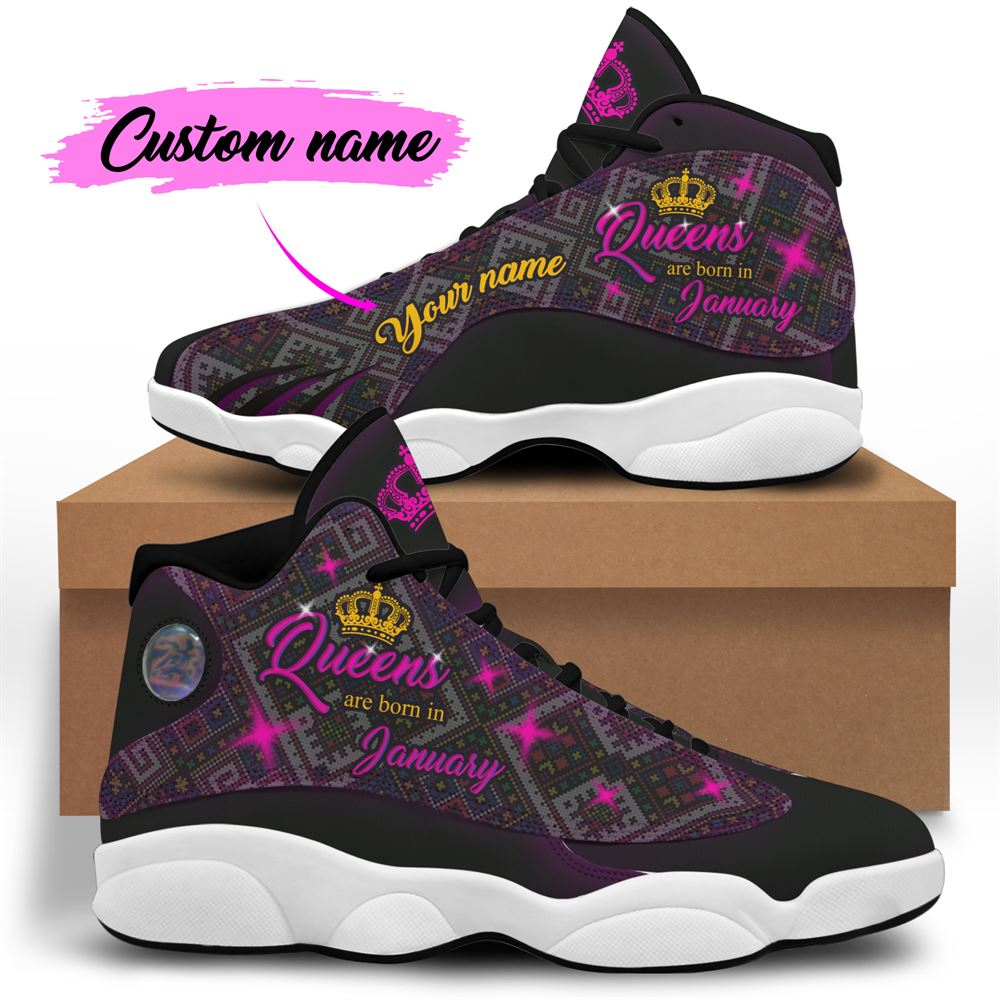 January Birthday Air Jordan 13 January Shoes Personalized Sneakers Sport V038