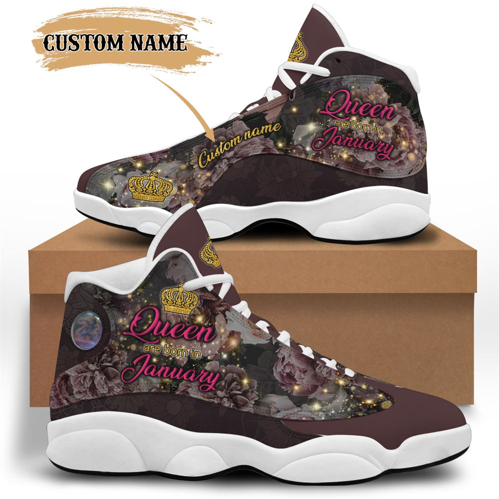 January Birthday Air Jordan 13 January Shoes Personalized Sneakers Sport V039