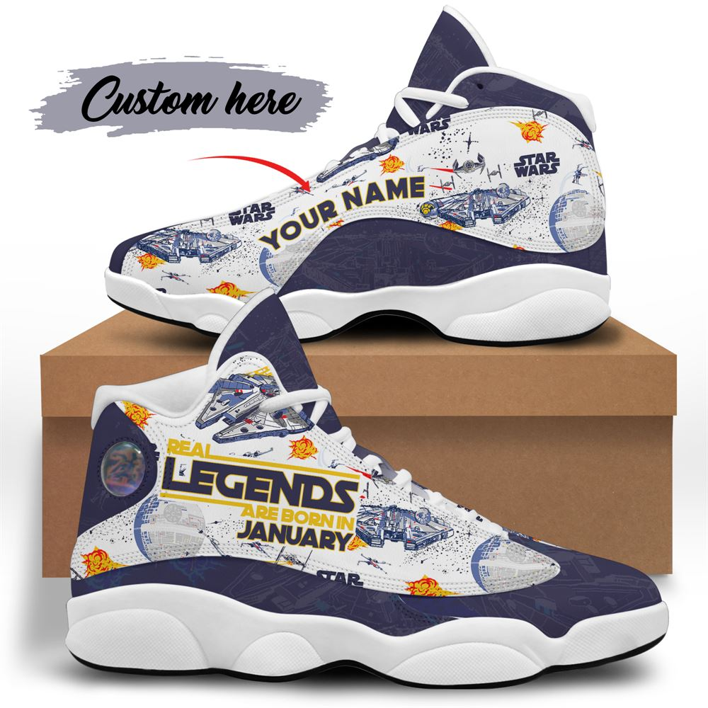 January Birthday Air Jordan 13 January Shoes Personalized Sneakers Sport V045