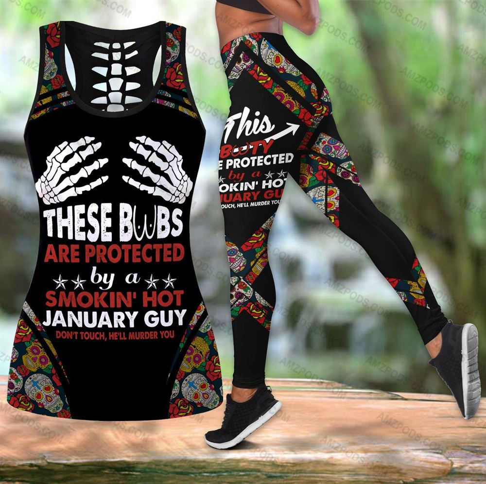 January Birthday Girl Combo January Outfit Hollow Tanktop Legging Personalized Set V045