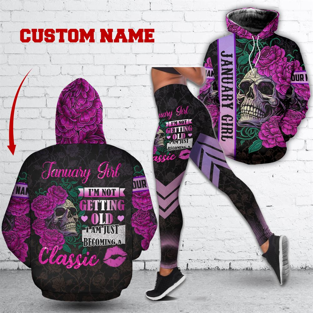 January Birthday Girl Combo January Outfit Personalized Hoodie Legging Set V014