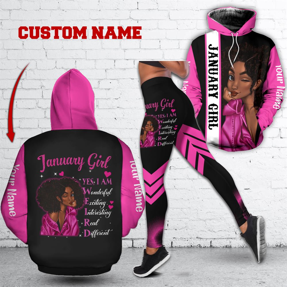 January Birthday Girl Combo January Outfit Personalized Hoodie Legging Set V019
