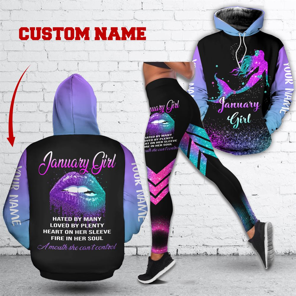 January Birthday Girl Combo January Outfit Personalized Hoodie Legging Set V024