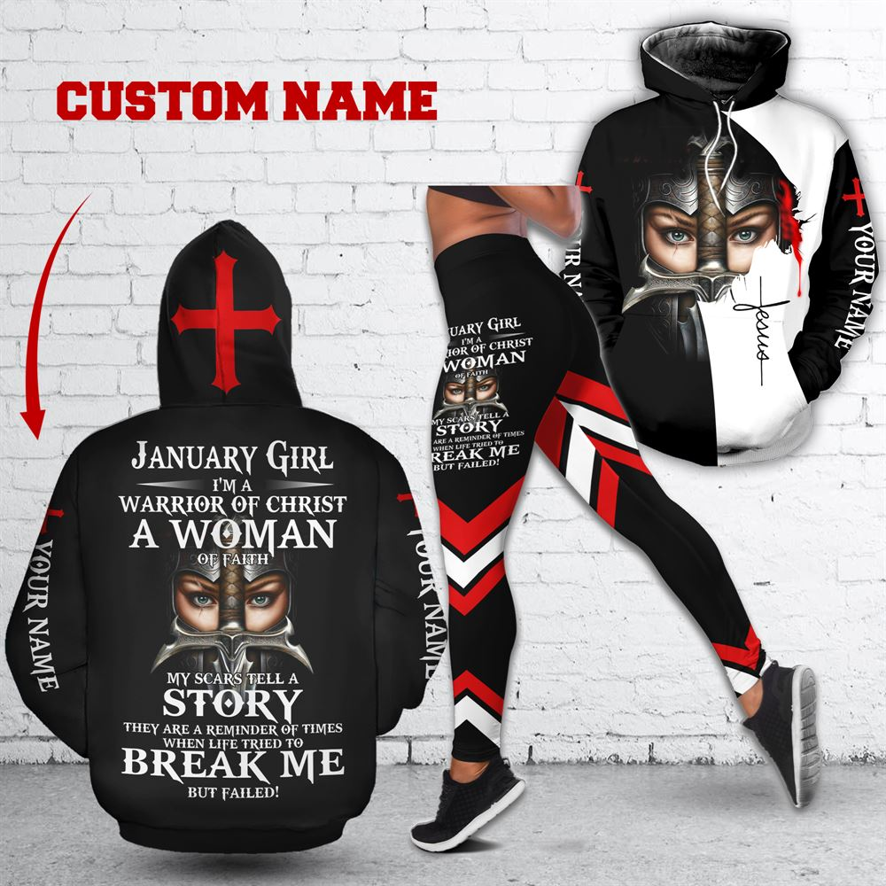 January Birthday Girl Combo January Outfit Personalized Hoodie Legging Set V026
