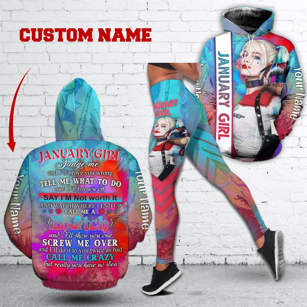 January Birthday Girl Combo January Outfit Personalized Hoodie Legging Set V027