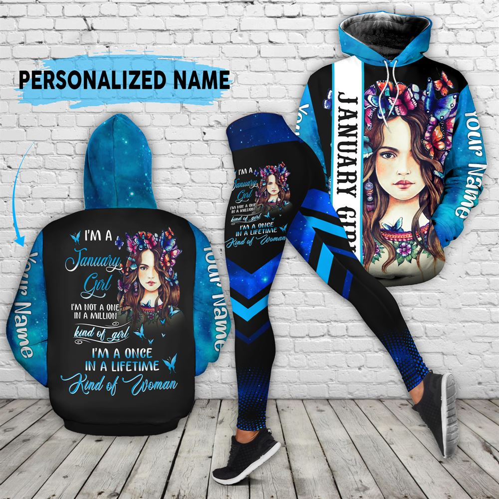 January Birthday Girl Combo January Outfit Personalized Hoodie Legging Set V028