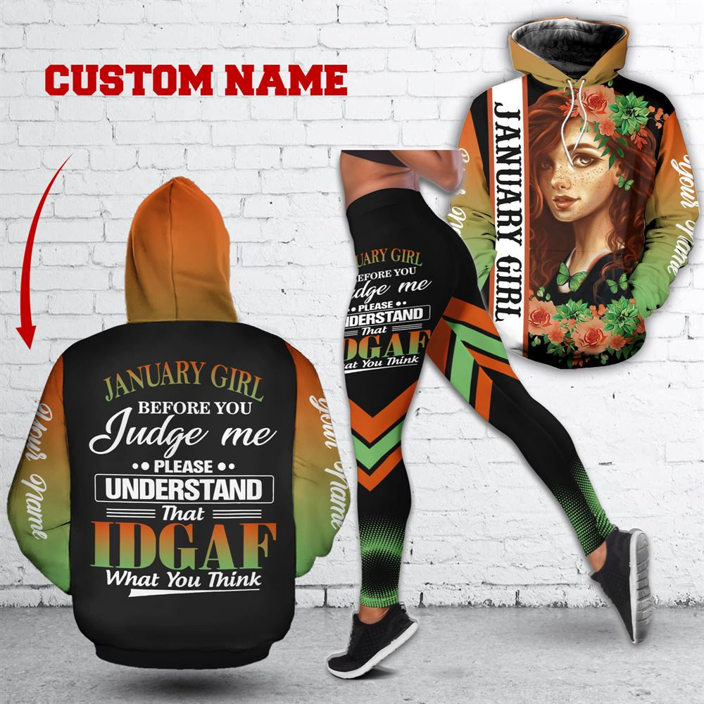 January Birthday Girl Combo January Outfit Personalized Hoodie Legging Set V029