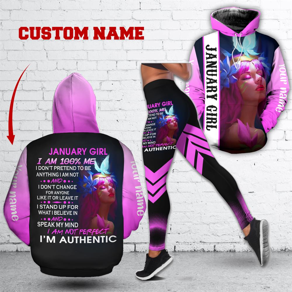 January Birthday Girl Combo January Outfit Personalized Hoodie Legging Set V031