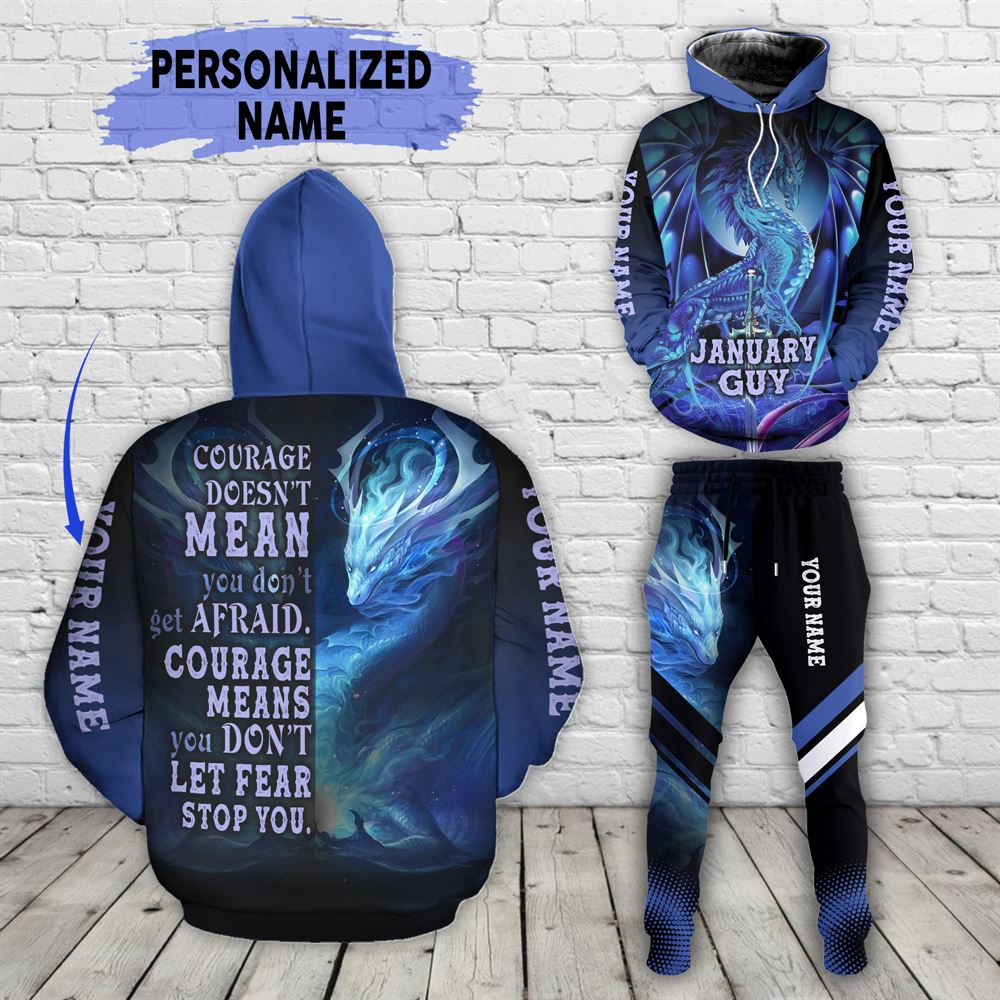 January Birthday Guy Combo January 3d Clothes Personalized Hoodie Joggers Set V011