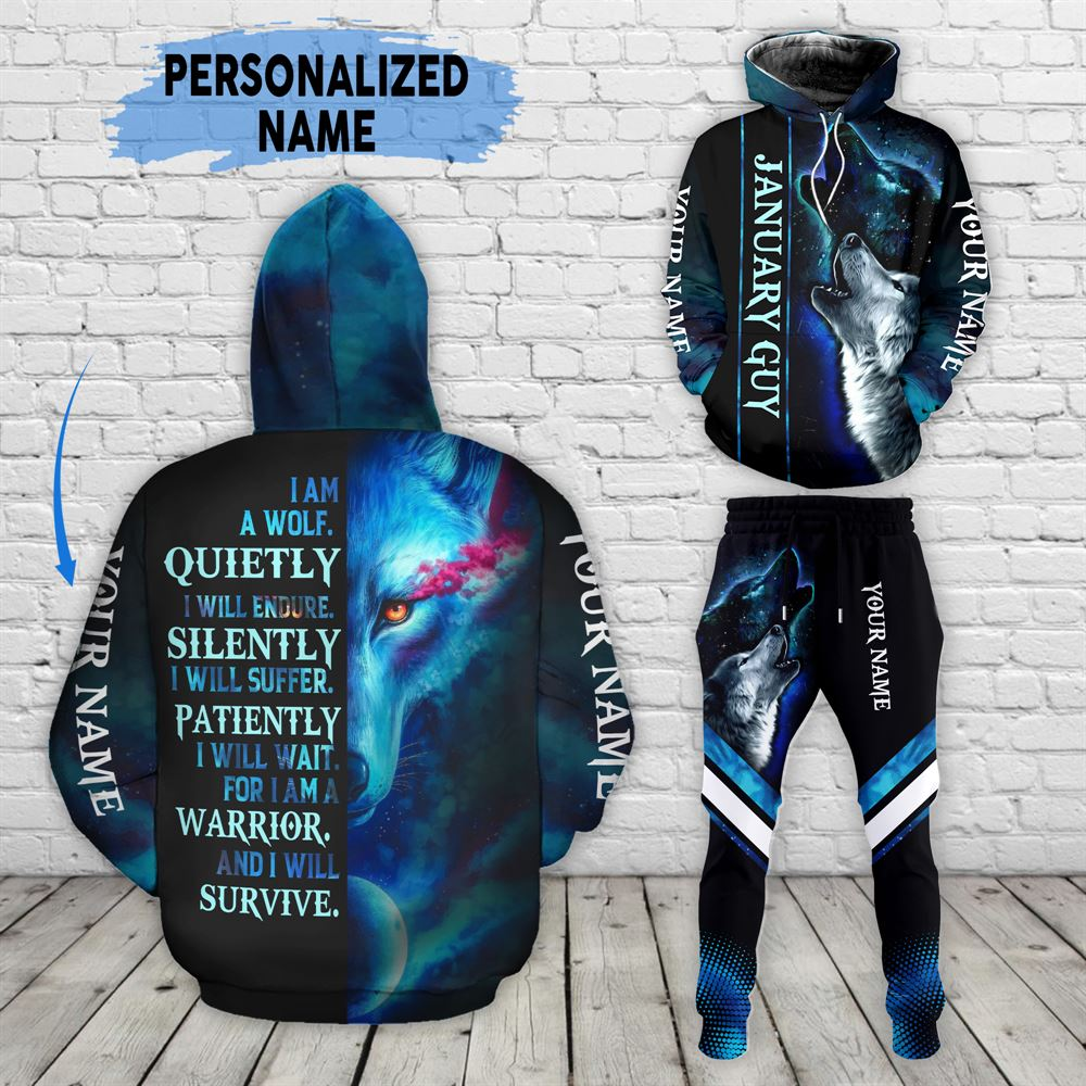 January Birthday Guy Combo January 3d Clothes Personalized Hoodie Joggers Set V013