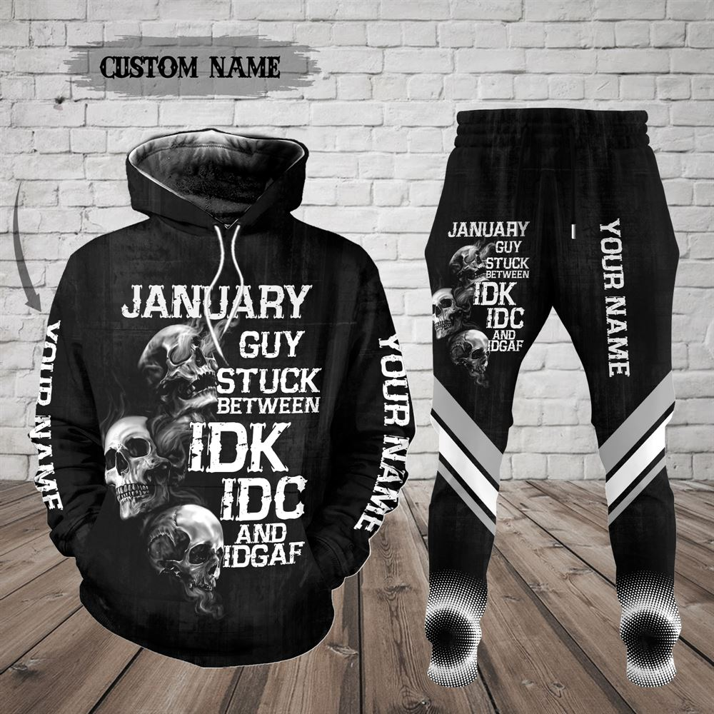 January Birthday Guy Combo January 3d Clothes Personalized Hoodie Joggers Set V021