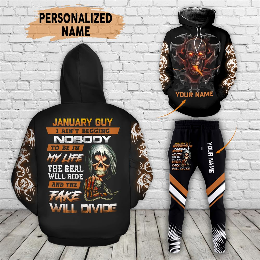 January Birthday Guy Combo January 3d Clothes Personalized Hoodie Joggers Set V024