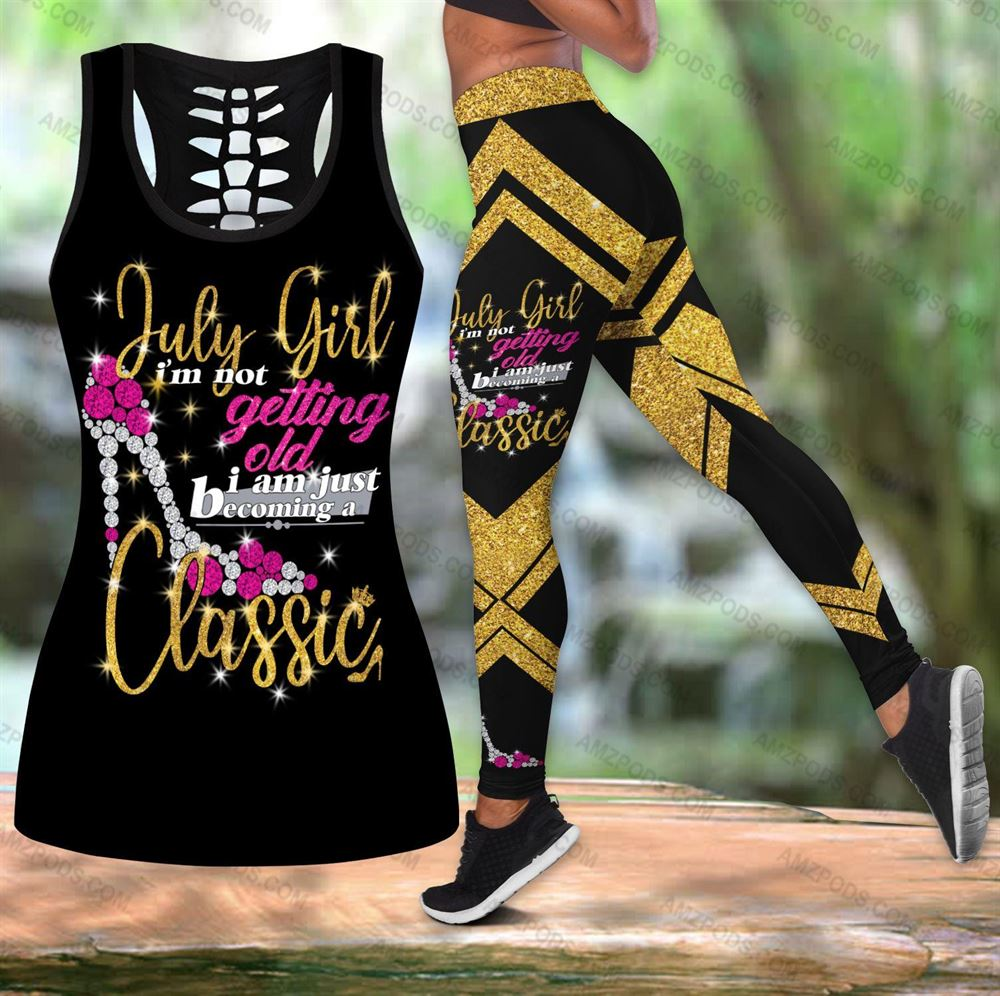 July Birthday Girl Combo July Outfit Hollow Tanktop Legging Personalized Set V06