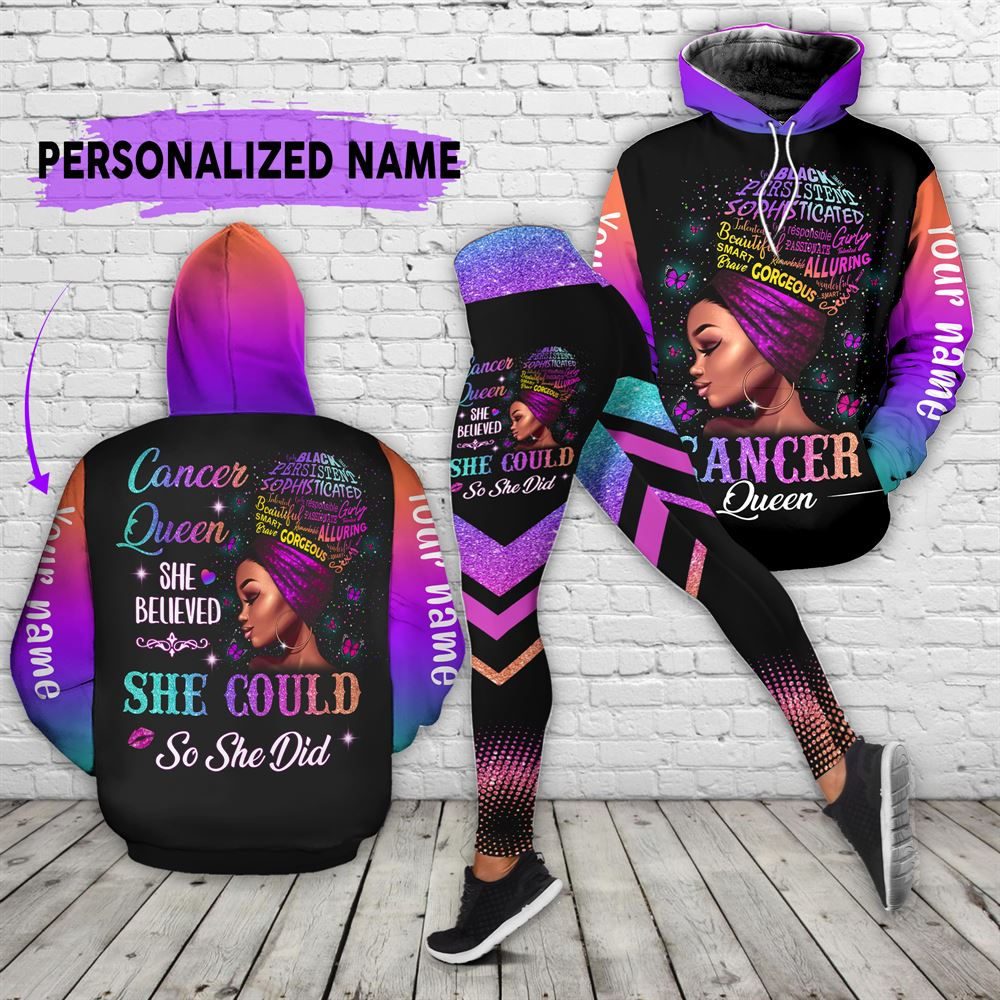 July Birthday Girl Combo July Outfit Personalized Hoodie Legging Set V012