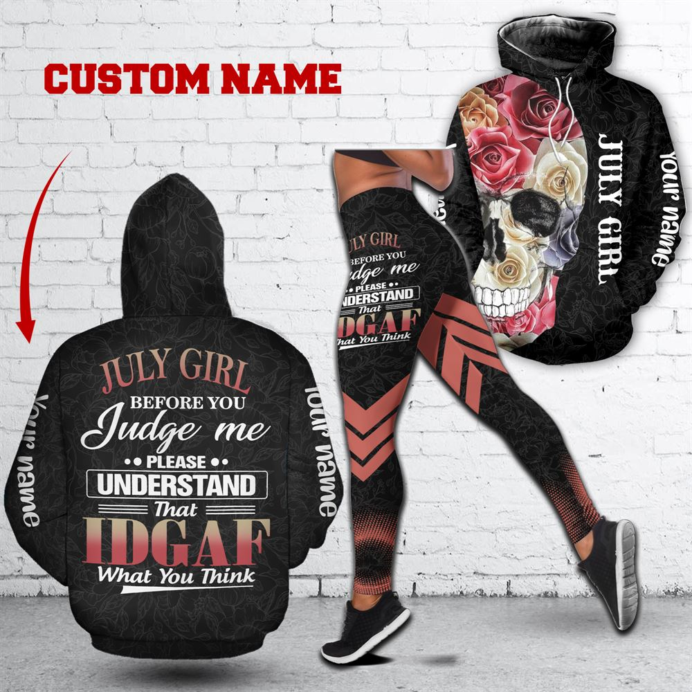 July Birthday Girl Combo July Outfit Personalized Hoodie Legging Set V017