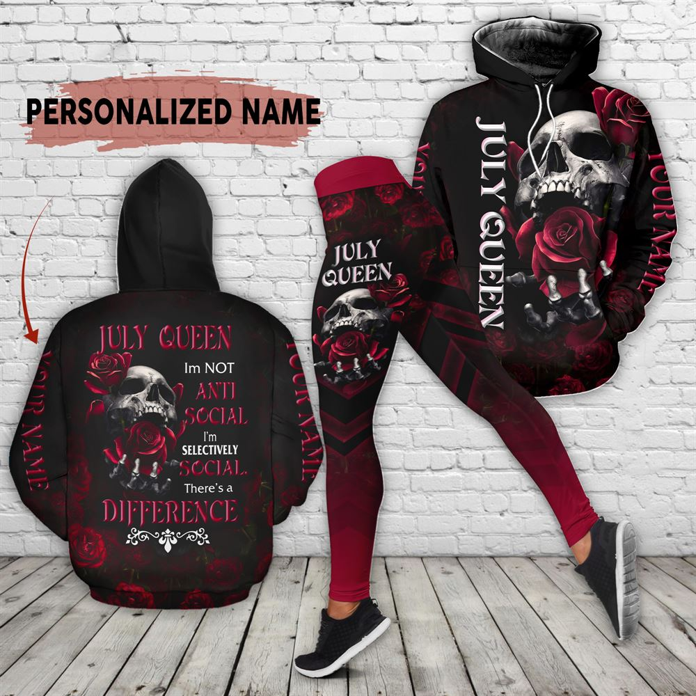 July Birthday Girl Combo July Outfit Personalized Hoodie Legging Set V02