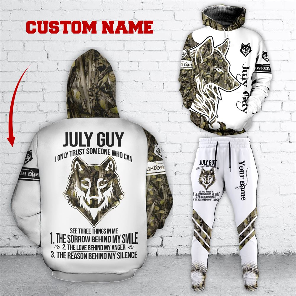 July Birthday Guy Combo July 3d Clothes Personalized Hoodie Joggers Set V031