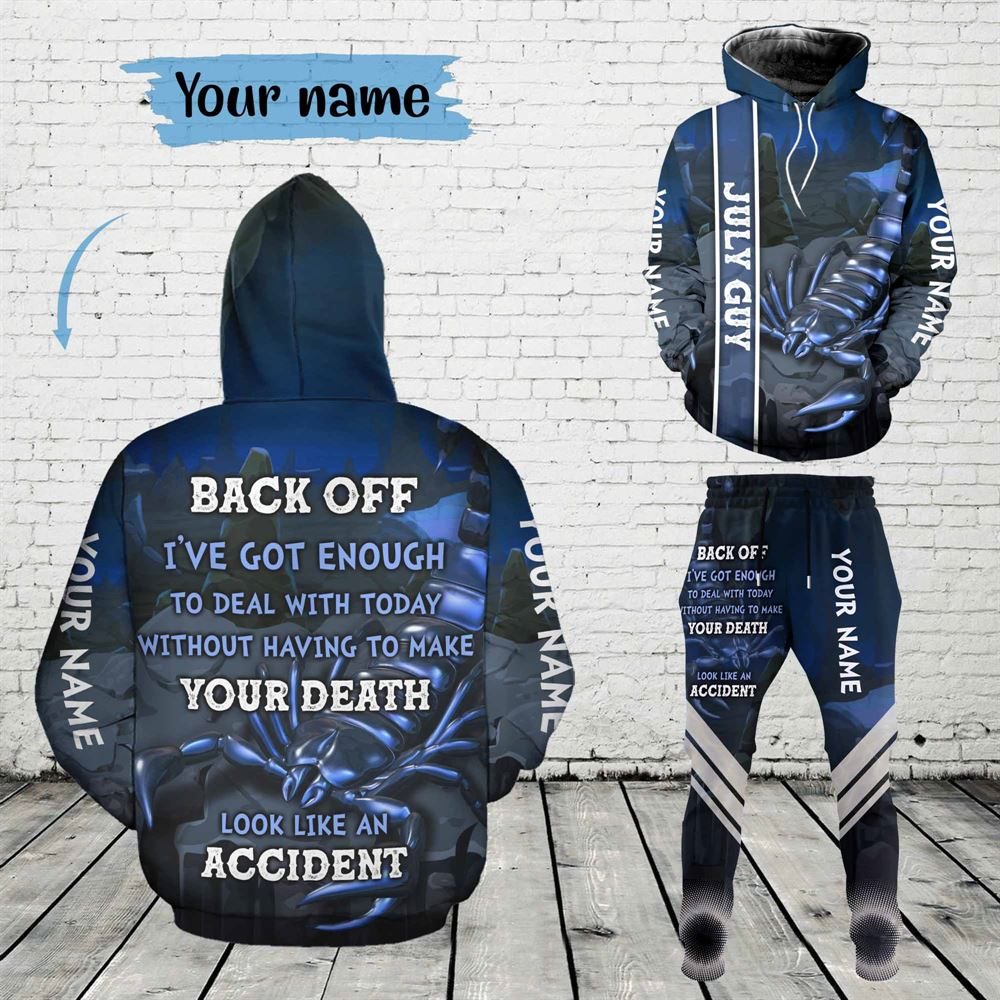 July Birthday Guy Combo July 3d Clothes Personalized Hoodie Joggers Set V05