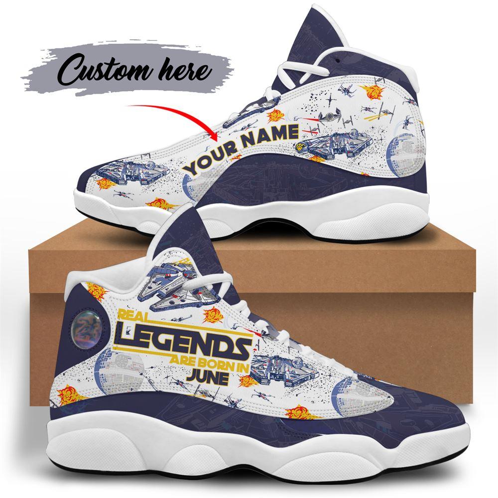 June Birthday Air Jordan 13 June Shoes Personalized Sneakers Sport V038