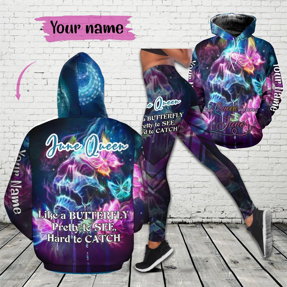 June Birthday Girl Combo June Outfit Personalized Hoodie Legging Set V010