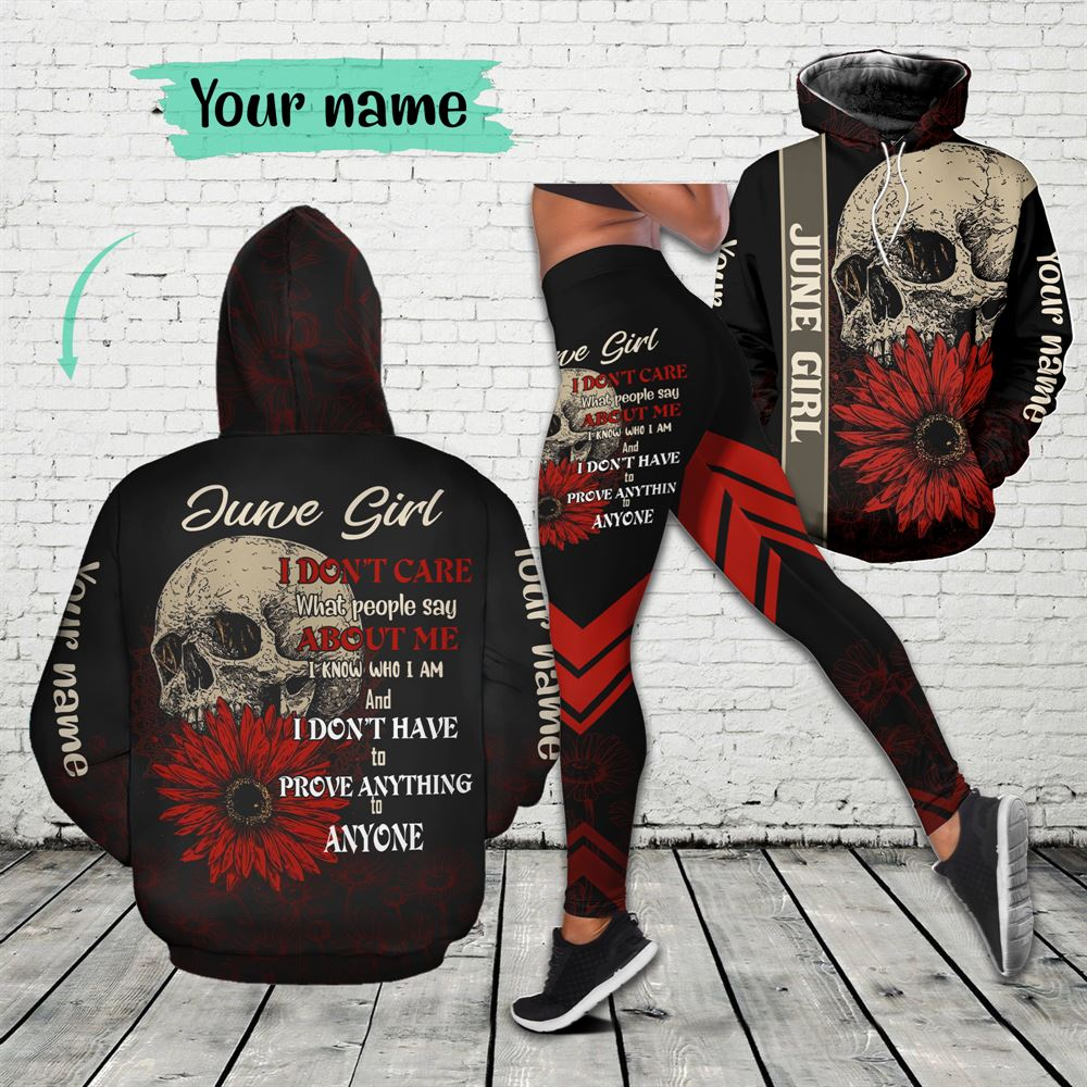June Birthday Girl Combo June Outfit Personalized Hoodie Legging Set V013