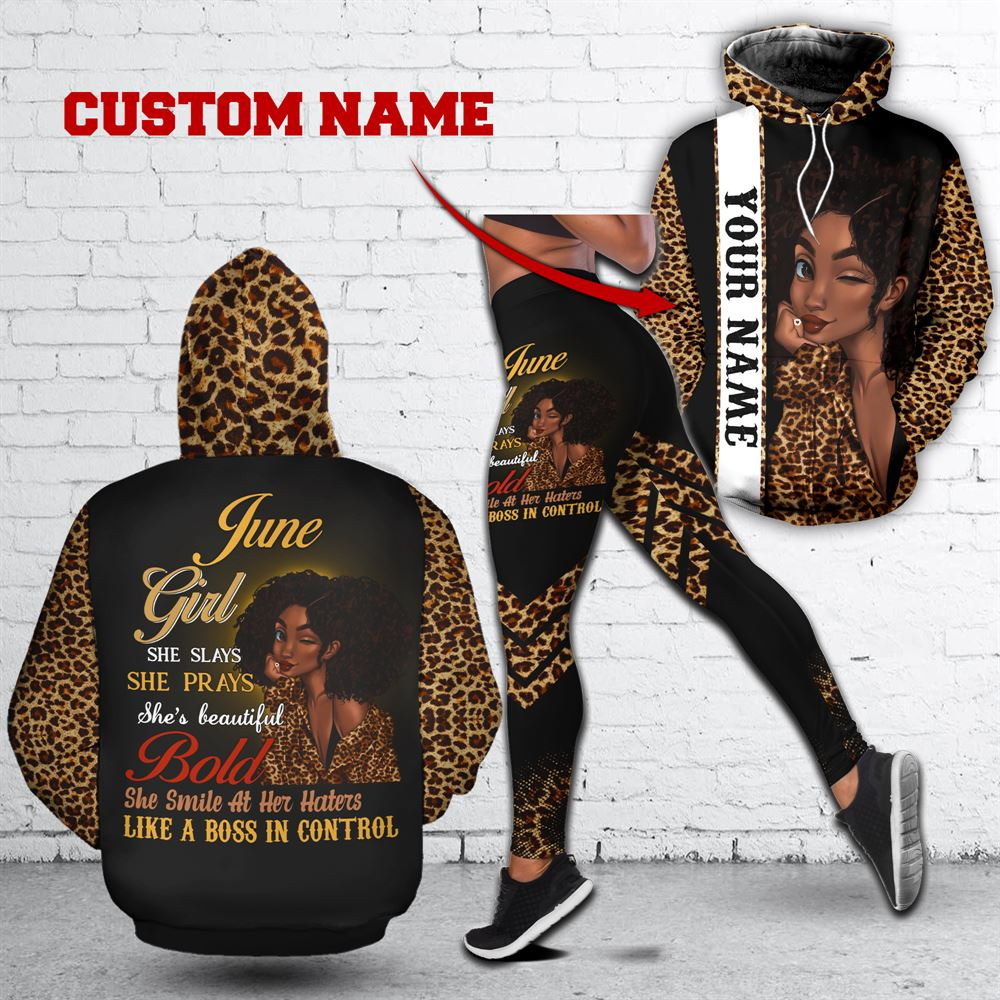 June Birthday Girl Combo June Outfit Personalized Hoodie Legging Set V022