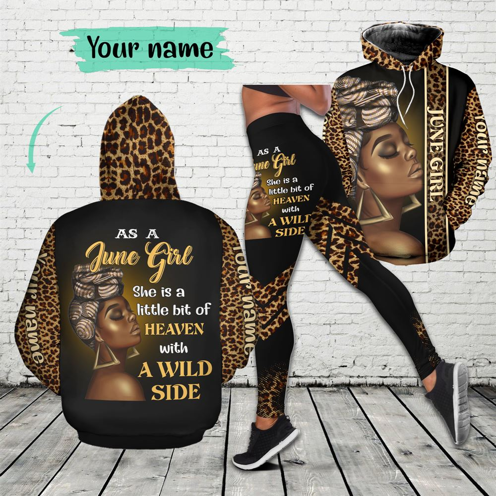 June Birthday Girl Combo June Outfit Personalized Hoodie Legging Set V08