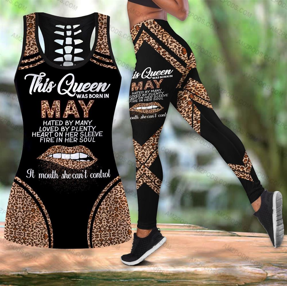 May Birthday Girl Combo May Outfit Hollow Tanktop Legging Personalized Set V023
