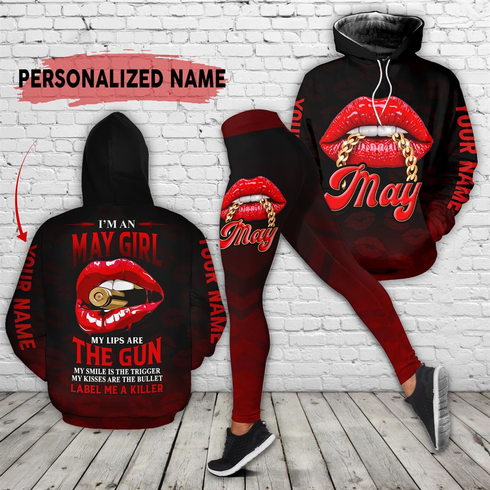 May Birthday Girl Combo May Outfit Personalized Hoodie Legging Set V013