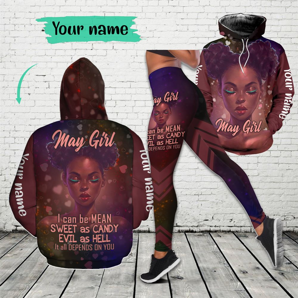 May Birthday Girl Combo May Outfit Personalized Hoodie Legging Set V017