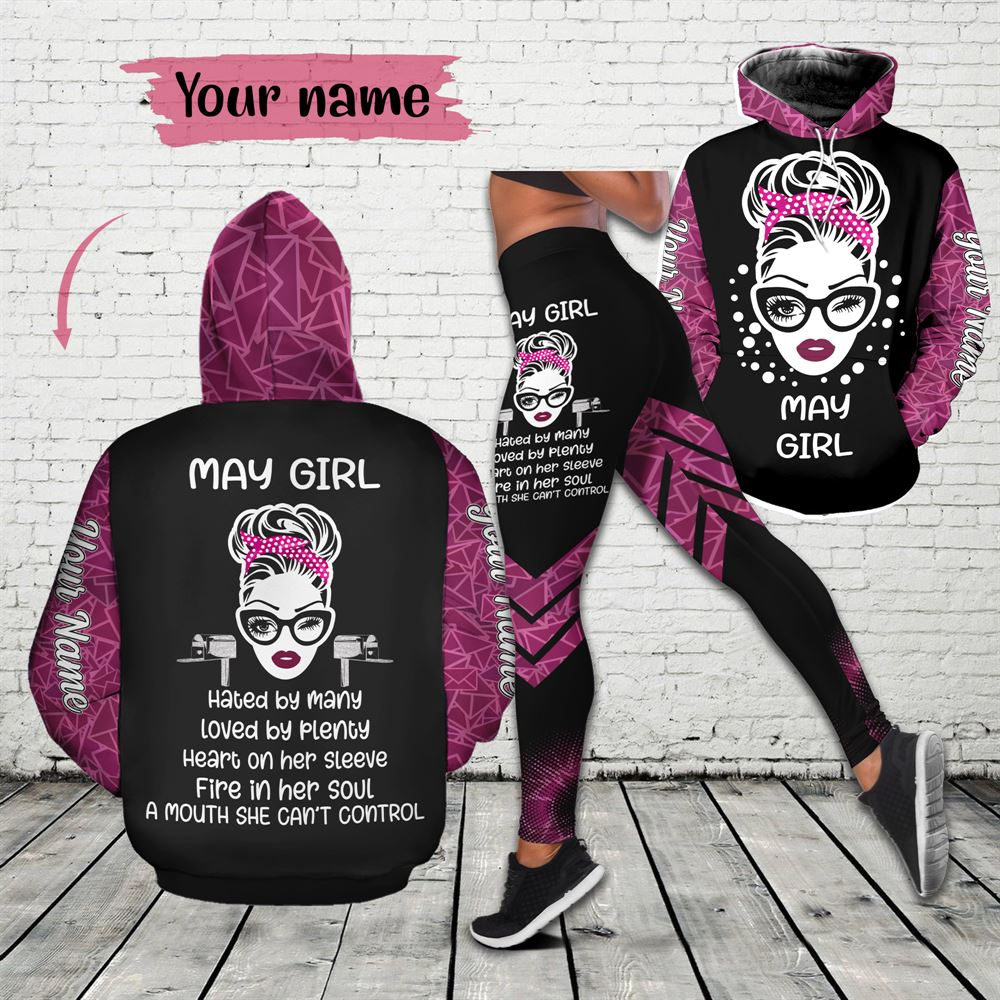 May Birthday Girl Combo May Outfit Personalized Hoodie Legging Set V028
