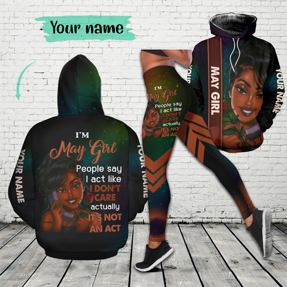 May Birthday Girl Combo May Outfit Personalized Hoodie Legging Set V03