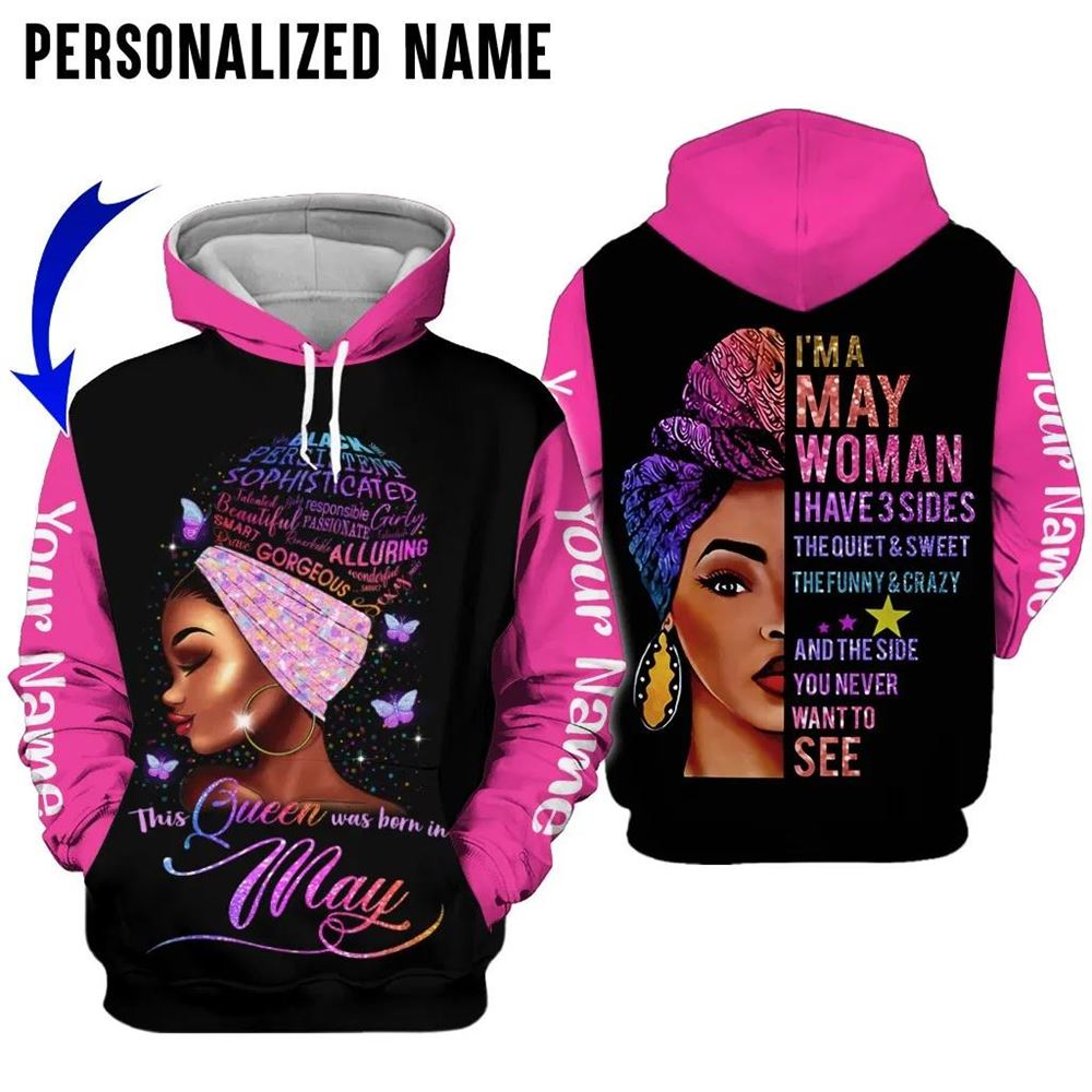 May Birthday Girl Combo May Outfit Personalized Hoodie Legging Set V030