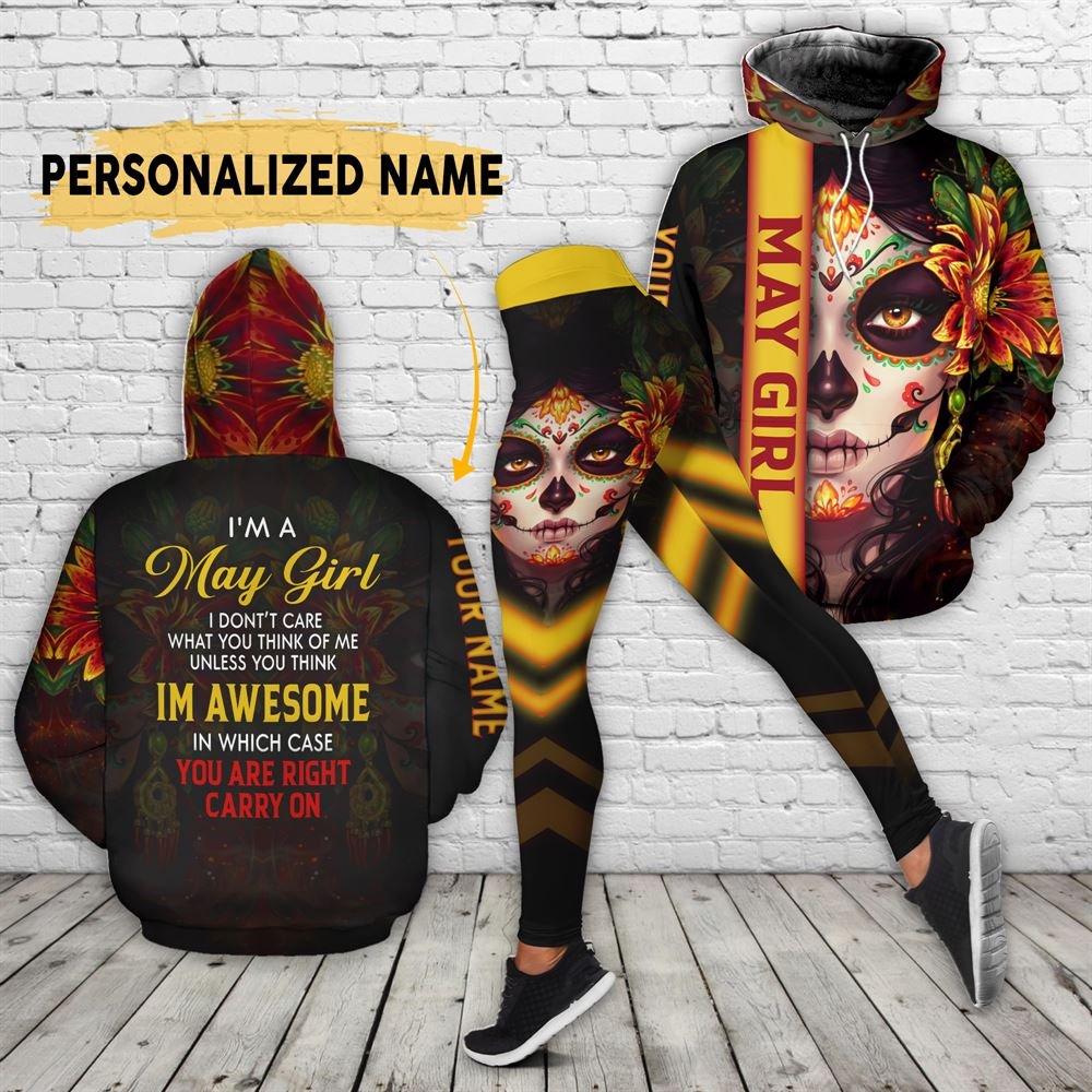 May Birthday Girl Combo May Outfit Personalized Hoodie Legging Set V06