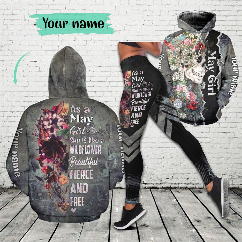 May Birthday Girl Combo May Outfit Personalized Hoodie Legging Set V07