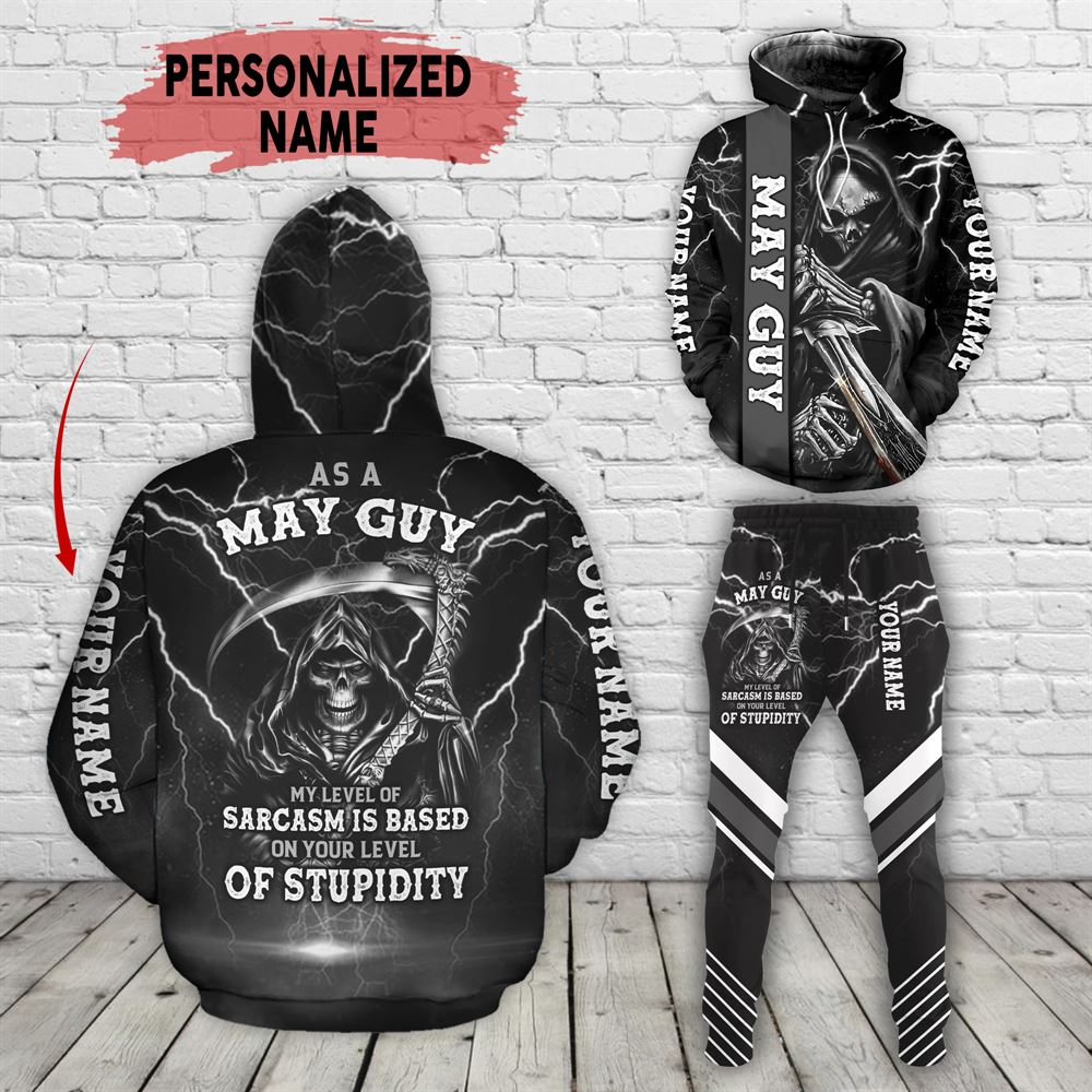 May Birthday Guy Combo May 3d Clothes Personalized Hoodie Joggers Set V021