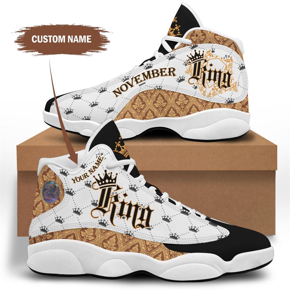 November Birthday Air Jordan 13 November Shoes Personalized Sneakers Sport V010