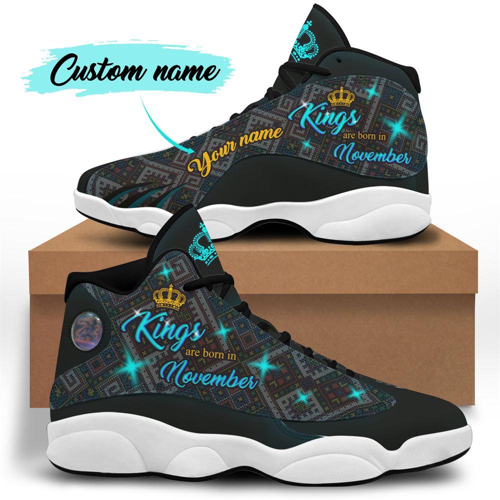 November Birthday Air Jordan 13 November Shoes Personalized Sneakers Sport V015