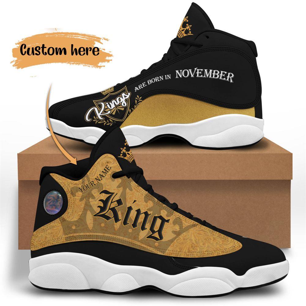 November Birthday Air Jordan 13 November Shoes Personalized Sneakers Sport V016