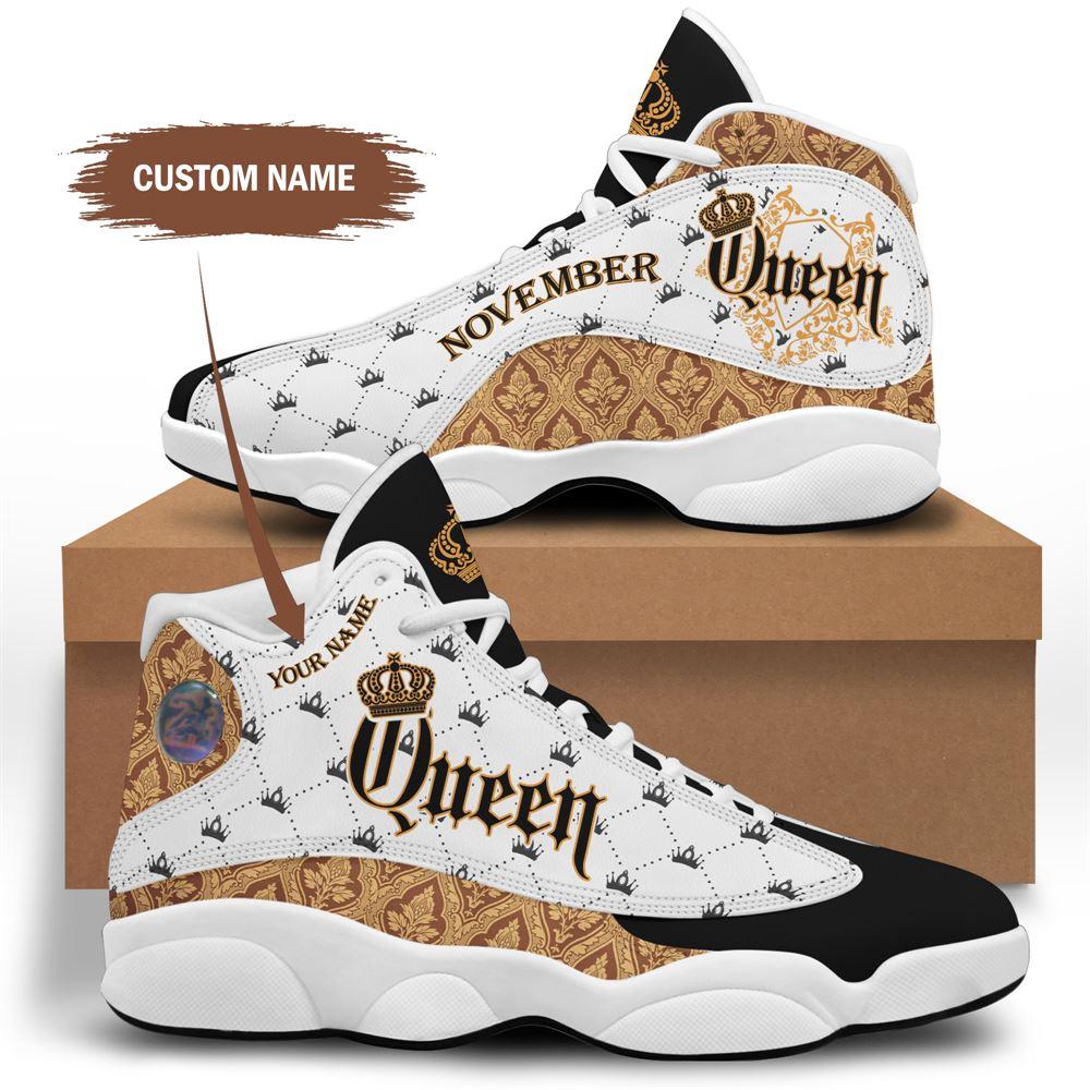 November Birthday Air Jordan 13 November Shoes Personalized Sneakers Sport V023