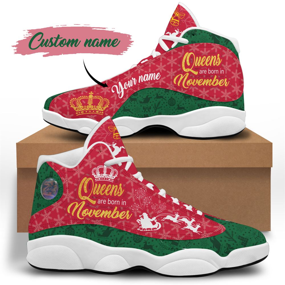 November Birthday Air Jordan 13 November Shoes Personalized Sneakers Sport V025