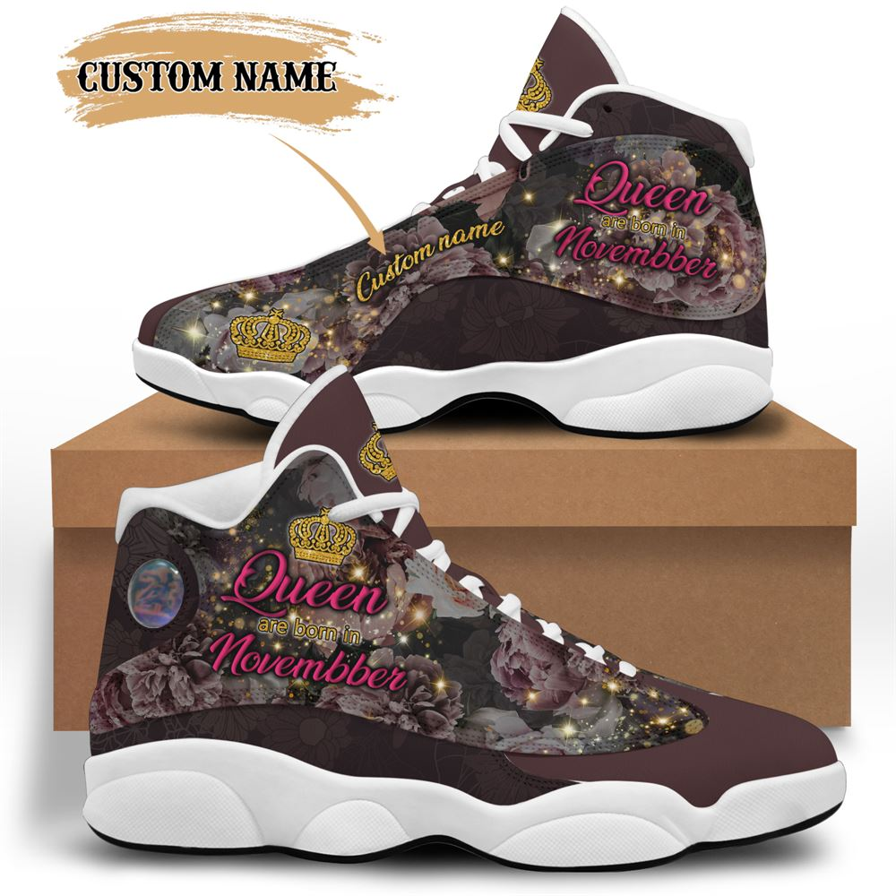 November Birthday Air Jordan 13 November Shoes Personalized Sneakers Sport V027