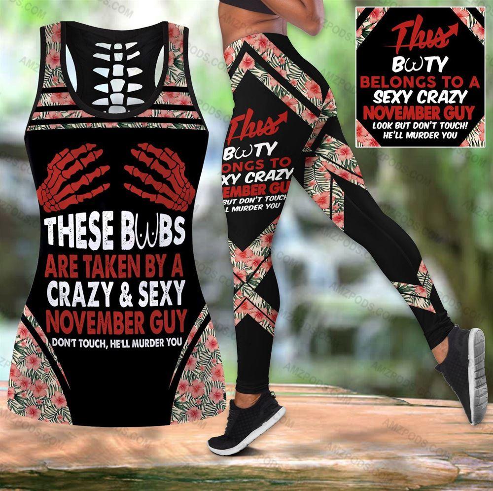 November Birthday Girl Combo November Outfit Hollow Tanktop Legging Personalized Set V016