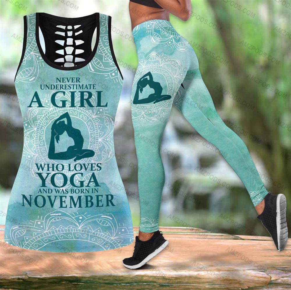 November Birthday Girl Combo November Outfit Hollow Tanktop Legging Personalized Set V032