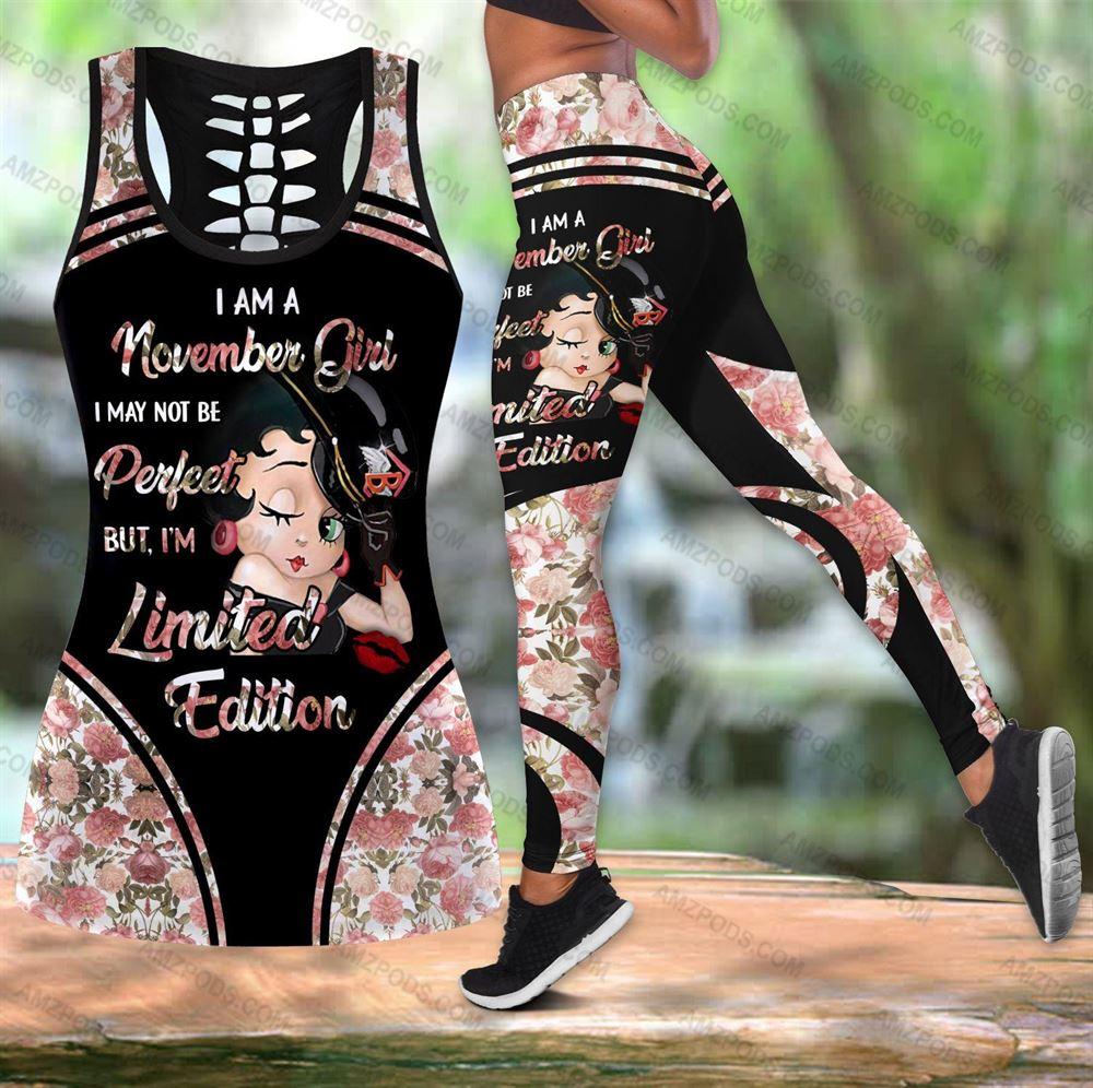 November Birthday Girl Combo November Outfit Hollow Tanktop Legging Personalized Set V037