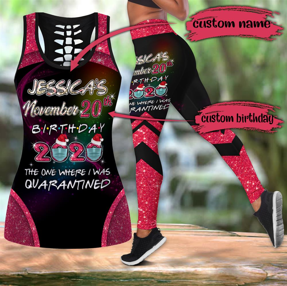 November Birthday Girl Combo November Outfit Hollow Tanktop Legging Personalized Set V053