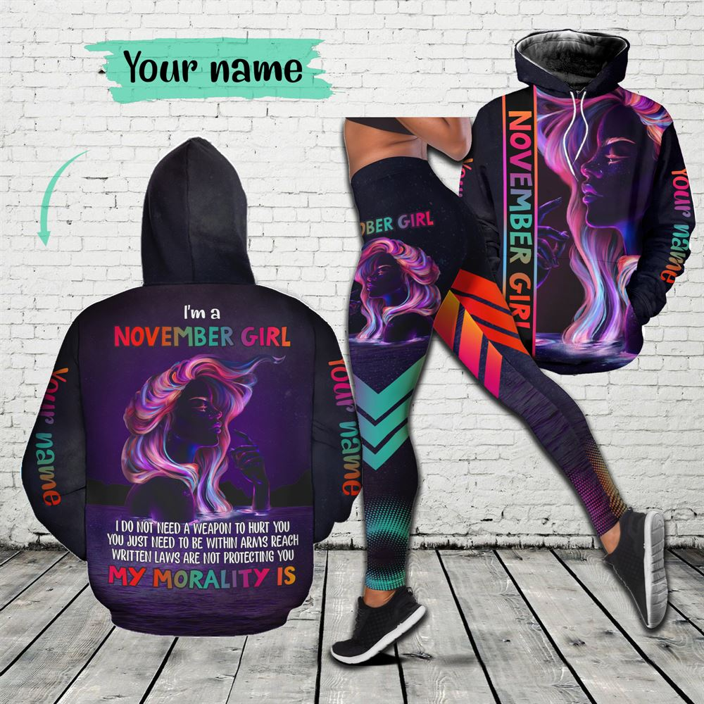November Birthday Girl Combo November Outfit Personalized Hoodie Legging Set V01