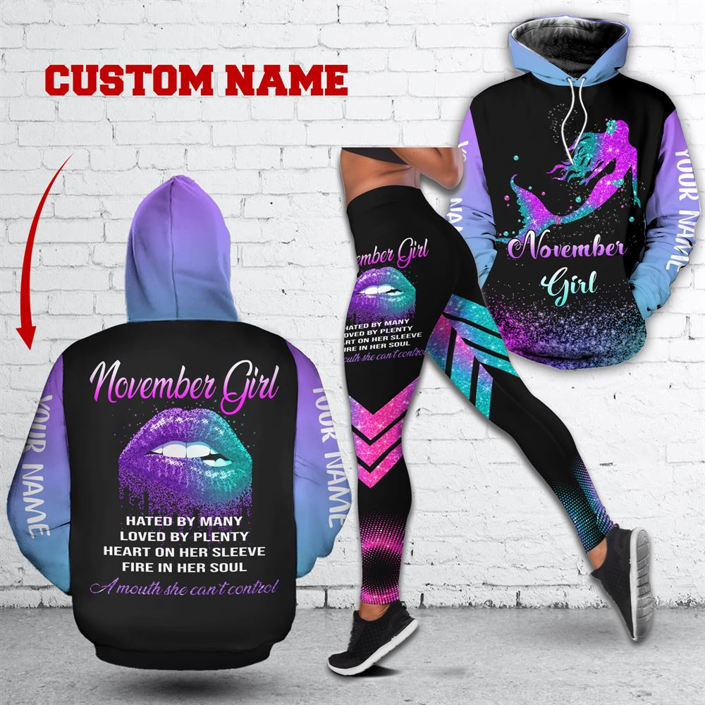 November Birthday Girl Combo November Outfit Personalized Hoodie Legging Set V025